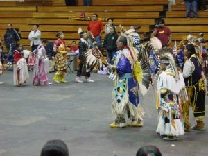 Uintah and Ouray youth indoor Pow Wow optoblog attended in May 2003