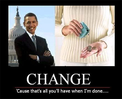 Obama will leave you with pocket change.